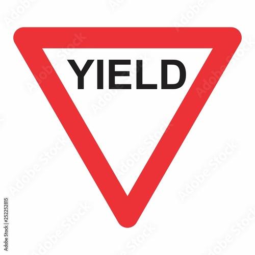 Obraz Yield Triangle Sign - fototapety do salonu