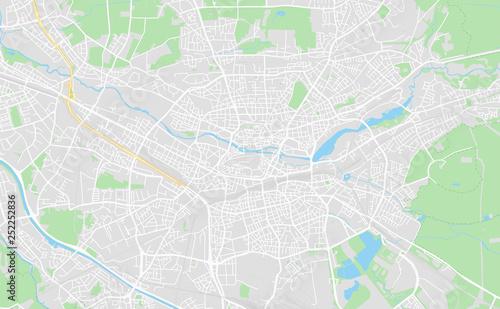 Nuremberg Map Of Germany.Nuremberg Germany Downtown Street Map Buy This Stock