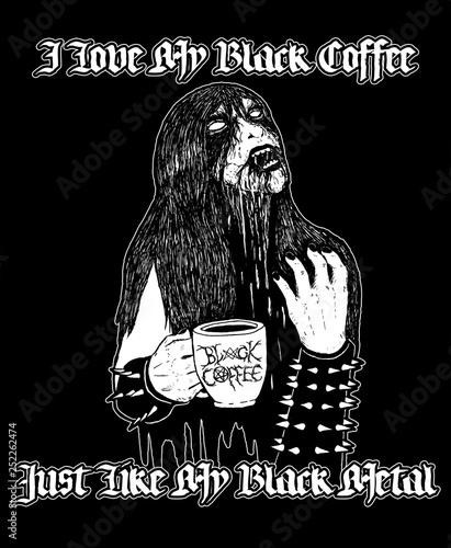 Photo Black coffee x black metal