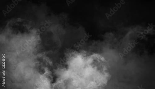 Obraz Fog and mist effect on black background. Smoke texture overlays - fototapety do salonu