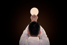 Pastor Prays To God Consecration A Bread