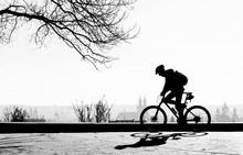 Riding Bicycle.