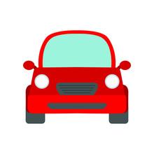 Red Car Emoji Vector