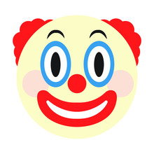 Clown Face Emoji Vector