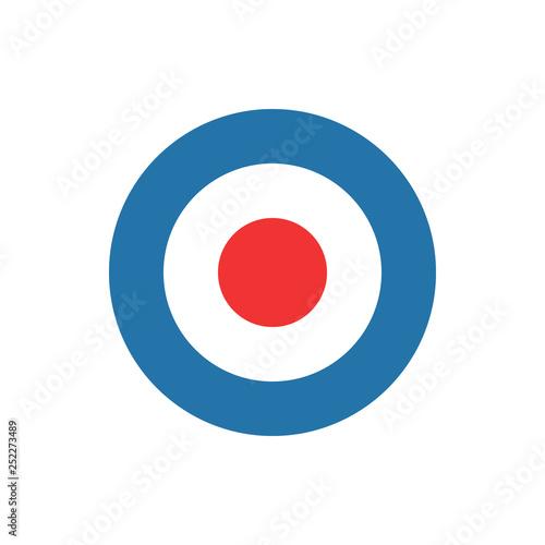 bullseye, target, dart icon Canvas Print