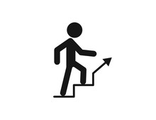 Stairs Up Web Icon Isolated On...
