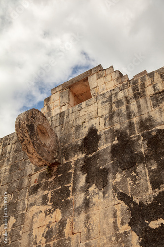 Fotografia, Obraz  8 meter high rings embedded in the stone wall of The Great Ball Court were the g