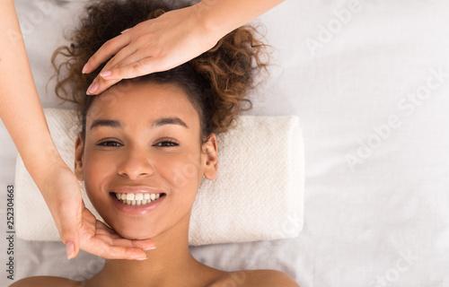 African-american woman enjo...