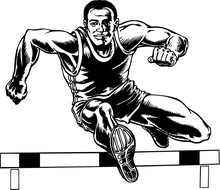 Hurdler Vector Illustration