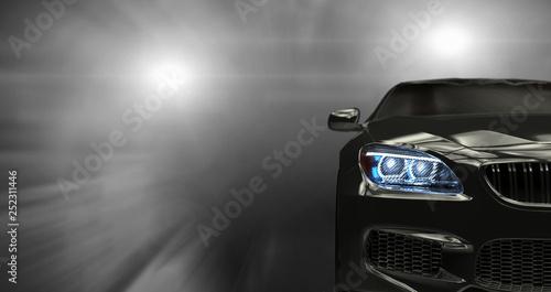 Obraz samochód  modern-cars-on-dark-background-3d-render