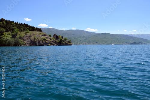 Fotografie, Obraz  Church of St. John at Kaneo near Ohrid lake. Ohrid, Macedonia.
