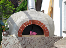 Pizza Holzofen Im Freien