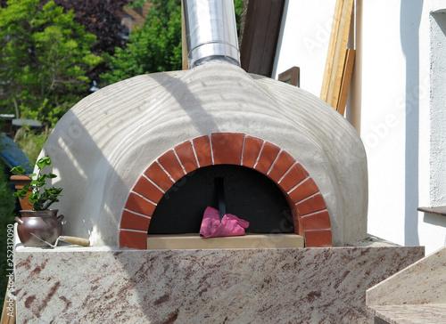 Fotografie, Obraz  Pizza Holzofen im Freien