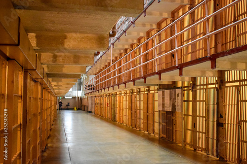 Photo Inside Empty Alcatraz Cell Block