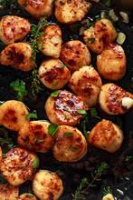 Scallops Seared In Garlic And ...