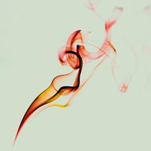 Swirls Of Bright Red Fume