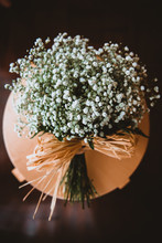 Bouquet Of White Flowers On Stand