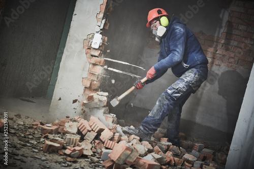 Photo demolition work and rearrangement