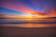 canvas print picture - Beautiful sunrise over the sea