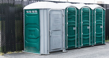 Green And Grey Porta Potties