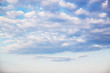 Blue sky and white cloud in sunny day