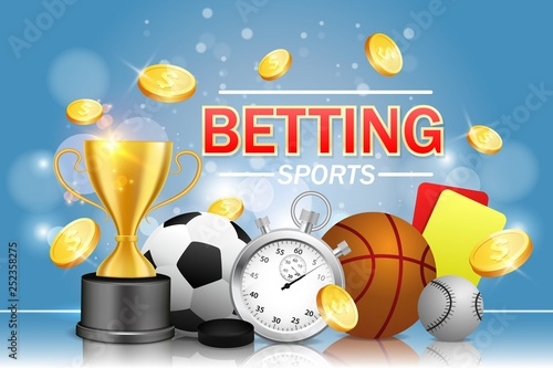 Sports betting vector poster banner design template Wallpaper Mural