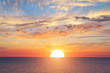 canvas print picture Summer sky background on sunset