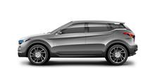 Grey Generic SUV Car. Off Road...