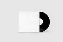 Vinyl Record With Cover Mock-u...