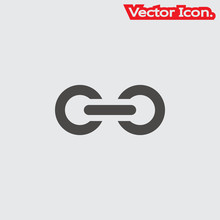 Link Icon Isolated Sign Symbol...