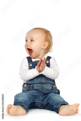 Photo Baby klatscht begeistert in die Hände