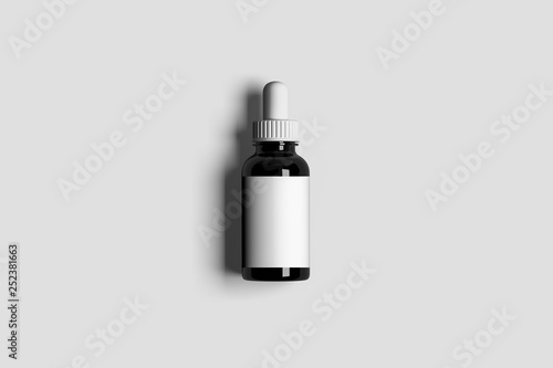 Glass Bottle Mock up container with Dropper Wallpaper Mural