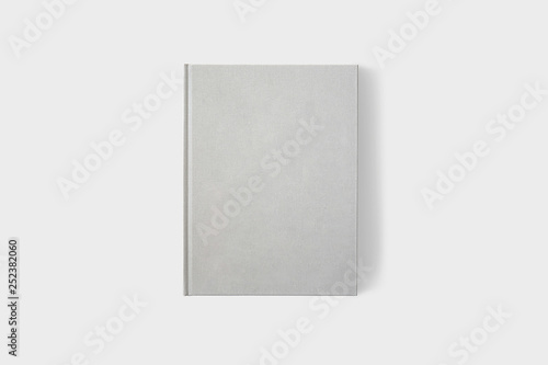 Template Book Mock up isolated on soft gray background,Real photo, blank book, brochure, booklet, hard cover and soft cover Fototapet