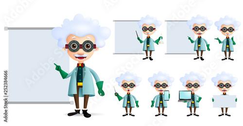 Obraz na plátně Genius scientist vector character set