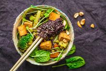 Asian Vegan Stir Fry With Tofu...
