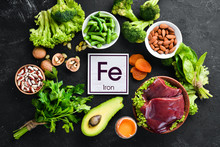 Food Containing Natural Iron. ...