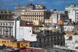 Havana, Cuba - 22 January 2013: Views of town center of squares and streets