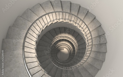 Fototapety, obrazy: Generic round spiral staircase