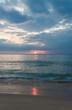 Sunset on the Naithon beach on Phuket in Thailand