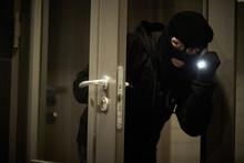 Burglar Thief In Mask. Break-i...