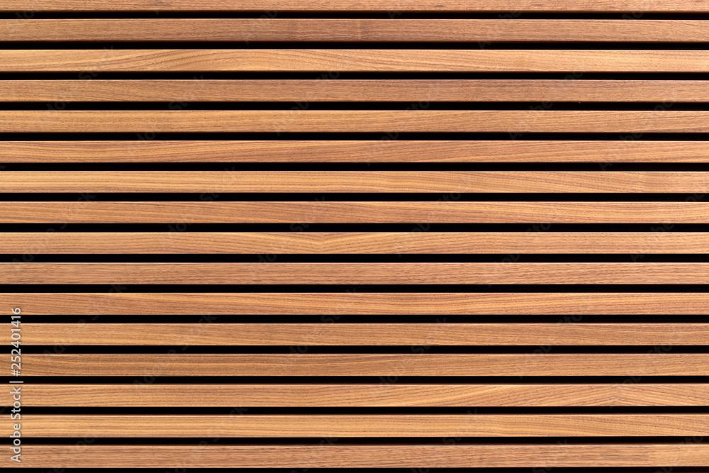 Fototapeta Wooden slats. Natural wood lath line arrange pattern texture background