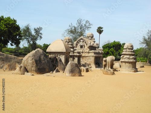 Fototapeta Ancient hindu temple, India, Tamil nadu, Mahabalipuram