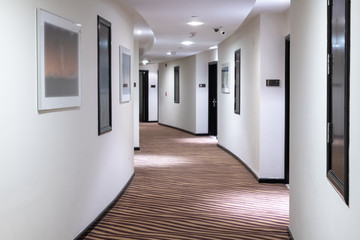 The white Hotels semicircular corridor in UAE