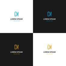 Letter CM Stylish Creative Vector Logo Design