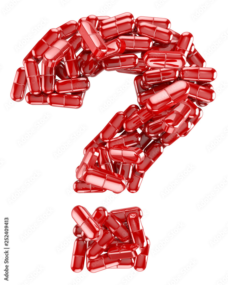 Fototapeta Medicines Collection® – Red question mark