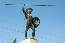 Statue Of Leonidas In Thermopyles, Greece