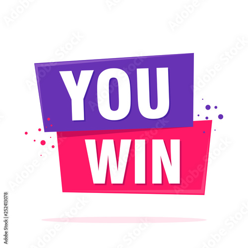 Photo  You Win Celebration Design