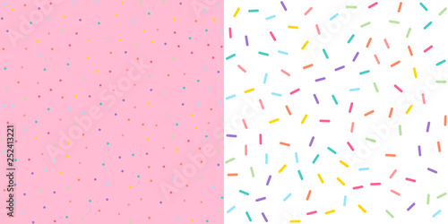 Seamless Colorful confetti sprinkle pattern wallpaper background Canvas Print