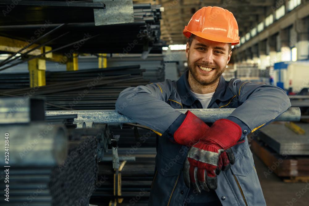 Fototapeta Professional engineer at the warehouse