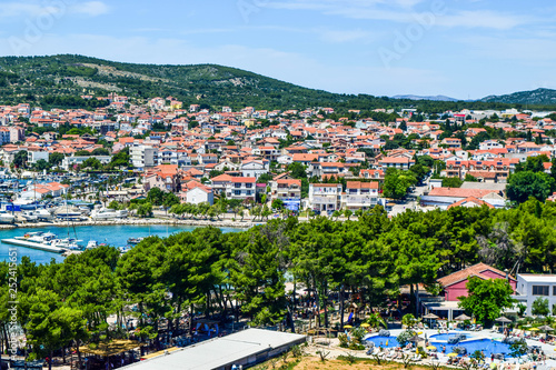 Photo Stands Nice The Vodice cityscape.